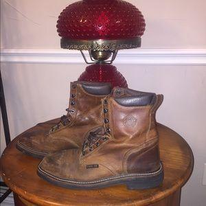 Justin Stampede Square Toe Steel Toe Work Boot 10D